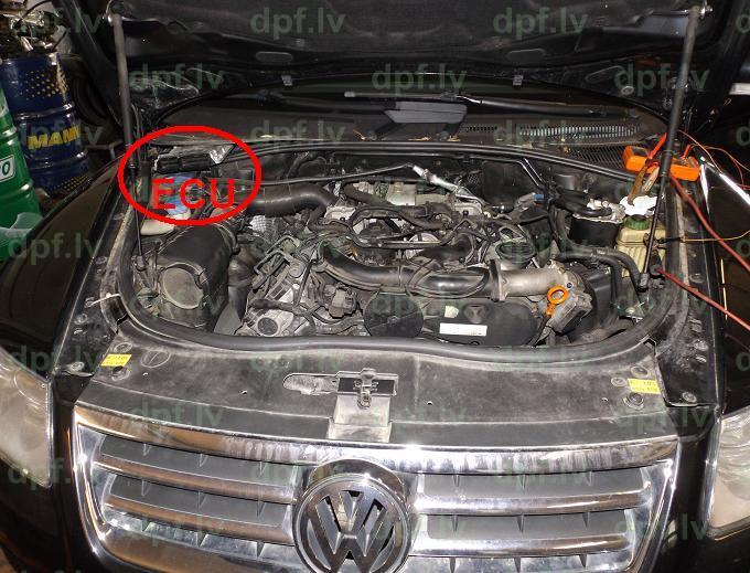 VW Touareg 3 0TDI V6 165kW 2005 программное отключение DPF+
